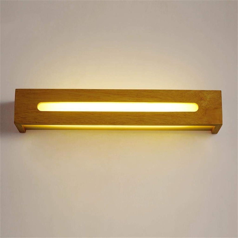 HhGold Der einfache Nettoholz-Badezimmer-Spiegel führte die vordere beleuchtende Treppe, die der Schlafzimmer-Wand-Lampe zugesagt wurde (Farbe  Wissen -45 cm). (Farbe   Weiß-45cm)