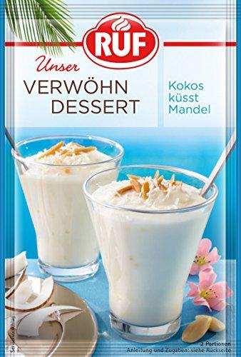 RUF Verwöhn Dessert Kokos-Mandel, 11er Pack (11 x 75 g)