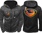 Sudadera unisex, Capucha de la chaqueta de los hombres - Los aficionados de hockey Atlanta Thrashers desgaste chaquetas de entrenamiento de primavera / verano de cremallera Cardigan Prendas de deporte
