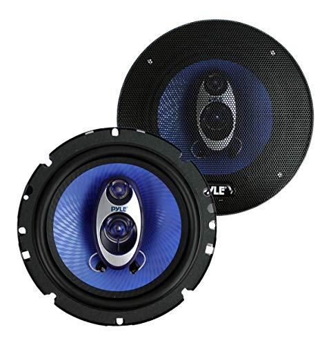 "Pyle PL63BL 6.5"" 360 Watts 3-Way Car Audio Coaxial Speakers PAIR Blue (Renewed)"