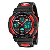 SOKY Birthday Gifts for 6-15 Year Old Teen Girls, Kids Watches Boys Waterproof Sports Digital Watches for 7-9 Year Old Girls Electronic Teenage Toys for Boy Age 6-8 Xmas Presents Stocking Stuffers Red