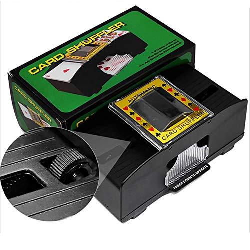 YLIK Poker Maschine, langlebig und Convenient Shuffling Werkzeug, Elektro Karte Waschmaschine kann 2 Sets von Ausrüstung, ausgestattet mit Batterie, mit 2 Sets von Karten