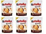 6x Ferrero Nutella Biscuits Mit Nutella gefüllte Kekse mit Haselnusscreme Beutel mit 304g cookies süßer Snack