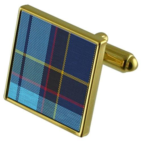 Select Gifts L'US Air Force Tartan Pipe Band de manchette Or personnalisée gravée en cas