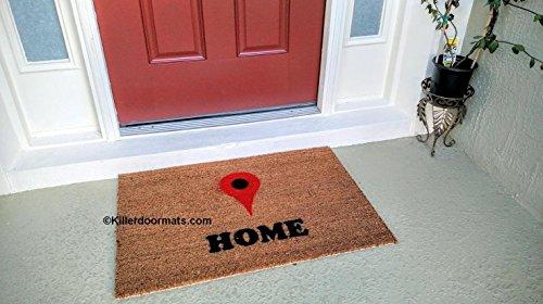 Maps Home Locator Custom Coir Doormat, Size Small - Welcome Mat - Doormat - Custom Hand Painted Doormat by Killer Doormats