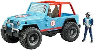 Bruder 2541 Blue Cross Country Racer Jeep With Driver