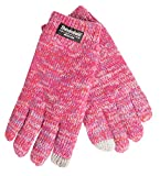 EEM Kinder Strick Handschuhe SNOW AND FUN mit Touch-Funktion und Thinsulate Thermofutter aus Polyester, Strickmaterial aus 100% Baumwolle, smartphone; pinkmix, L
