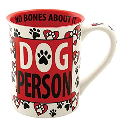 Red and White Dog Person mug
