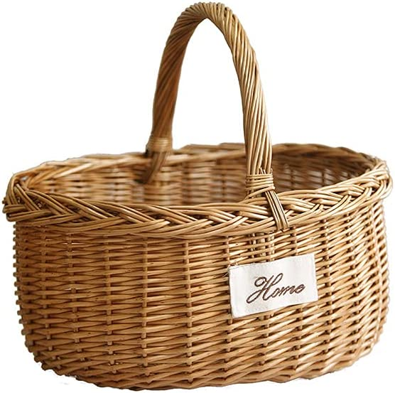 Wicker Basket Gift Baskets New sales Willow Candy Bask Woven Spring new work one after another Picnic