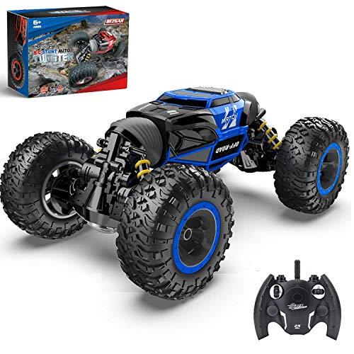 BEZGAR Auto radiocomandata 1:14, giocattolo per bambini Off Road Transform 2,4 GHz 4 WD motori elettrici, Buggy Hobby Auto Outdoor per adulti