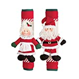 Collections Etc Mr. and Mrs. Claus Appliance Handle Covers - Set of 2