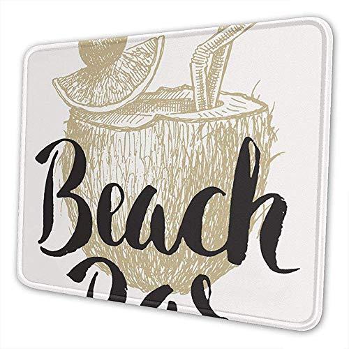Mauspad Nahtkante Hochwertiges Textur-Rattenpad, personalisiertes Mauspad mit Sohle, Strandtasche