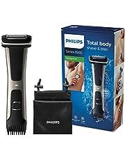 Philips Kroppstrimmer Bodygroom Series 7000 - 100% duschtålig - Sladdlös användning i 80 minuter - Justerbar trimkam 3 - 11 mm - Ergonomiskt grepp för maximal kontroll - BG7025/15