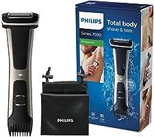 Philips Serie 7000 BG7025/15 - Afeitadora corporal con cabezal de recorte y de afeitado, 80 minutos de uso, apta para la...