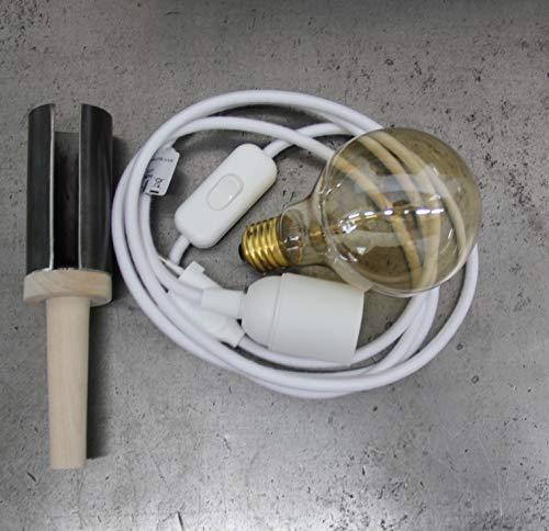 Flaschen Lampe (Textielkabel weiß)