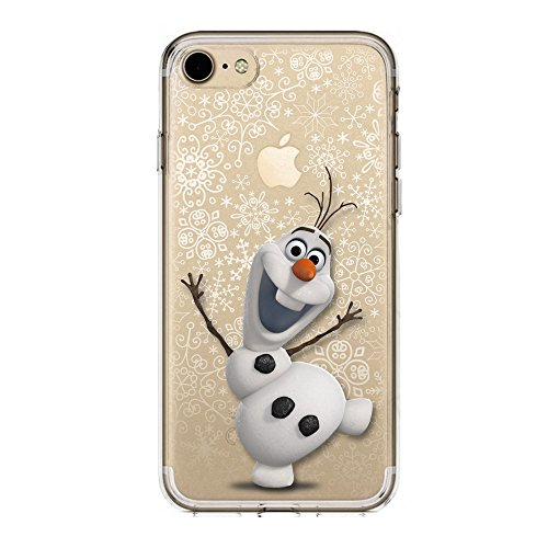 SLIDE IP7 / IP8 Cover TPU Gel Trasparente Morbida Custodia Protettiva, Cartoon, Special Collection, Frozen Olaf, iPhone 7, iPhone 8