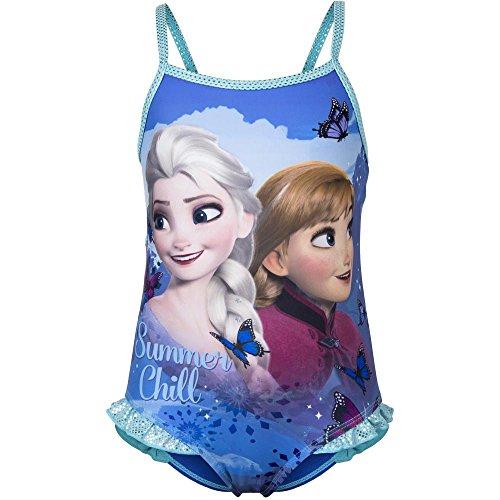 Preisvergleich Produktbild Frozen - Die Eiskönigin Badeanzug Summer Chill mit tollem Anna & ELSA Fullsize-Print - 8A
