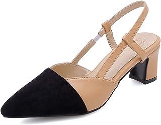9d7845f7b7c15c Kinkie Escarpins Femme Bout Pointu avec Boucle Bride Arrière Chaussures  Escarpins Pas Cher