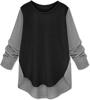 [ボルソ] レディース 2トーン ストライプ 切り替え シャツ (ブラック、ベージュ、ネイビー)M〜XXL