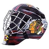 Franklin Sports Chicago Blackhawks NHL - Maschera da Portiere per Hockey su Strada per Bambini - Maschere da Hockey su Strada
