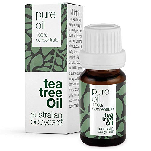Australian Bodycare Tea Tree Oil 10 ml | Teebaumöl gegen Pickel im Gesicht | Ätherisches Öl für unreine Haut, Kopfhaut, Haare | Pflege bei Akne, Fußpilz, Nagelpilz
