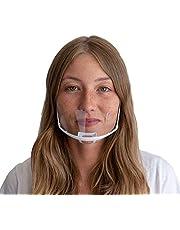 DECADE® 10 Stück Safety Gesichtsschutzschild Kunststoff Visier Gesichtsschutz Anti-Fog Anti-Öl Splash Transparent Schutzvisier - Essen Hygiene Spezielle Anti-Saliva Gesichtsschutzschirm