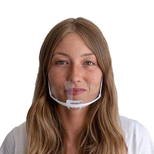 DECADE® 10 Stück Safety Gesichtsschutzschild Kunststoff Visier Gesichtsschutz Anti-Fog Anti-Öl Schutzvisier - Essen Hygiene Gesichtsschutzschirm Mundvisier Mouthshield Mini Mund Nase Visier