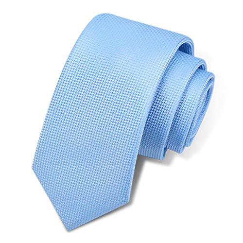 QINJLI Männliche Geschäfts-Krawatte Beiläufiges Schmales Kapitel 6CM Handbetriebene Regelmäßige Chemische Reinigung Mitteltemperaturbügeln-Kragen-Symmetrie-Geburtstagsgeschenk (Color : D)