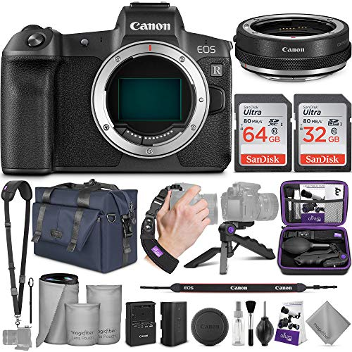Canon EOS R Mirrorless Digital Camera Body + Canon Control Ring Mount Adapter EF-EOS R with Altura Photo Complete Accessory and Travel Bundle