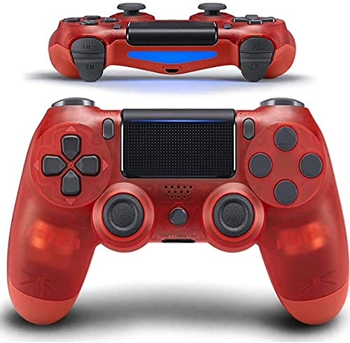 Wireless PS4 Controller, with Led Touch Pad and Dual Shock, Non-Slip & Anti-Sweat, Ergonomic Design, High-Sensitive Joystick, Game Pad for PS4/PS4 Pro/PC and Laptop