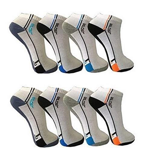 BestSale247 12 Paar Herren Sport Freizeit Sneaker Socken Füßlinge Baumwolle 39-42 ; 43-46 (Muster 7, 43-46)