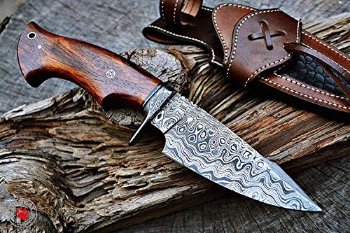 Bobcat Knives Damascus Steel Bowie Knife