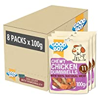 MADE with 100 Percent NATURAL CHICKEN: I'm made with 100 percent natural chicken breast meat so will be sure to get your dogs' tail wagging. I'm roasted in my own juices creating the tasty chicken treat for rewarding your pooch at home or whilst out ...