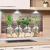 GRAZDesign Küchenrückwand Glas-Bild Spritzschutz Herd Edler Kunstdruck hinter Glas Bild-Motiv Gewürze Eyecatcher für Zuhause / 60x40cm