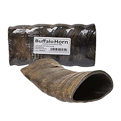 5 x Medium Buffalo Horns Long Lasting 100% Natural Dog Treat Chew Supplied By JR Pet Products