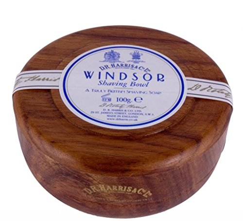 D. R. HARRIS Windsor Mahogany Effect Shaving Bowl & Shaving Soap