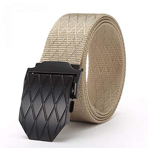 LLZGPZPD riemgesp van linnen, zwart, van legering, gesp van nylon, voor mannen, militaire riem, voor vrouwen, beste kwaliteit, mannelijk
