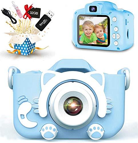 子供用 カメラ2021最新版子ども用デジタルカメラ 2000万画素 8倍デジタルズーム HD録画 タイマー撮影 1080P 自撮り機能付き HD画質 操作簡単 USB充電 32GBSDカードと日本語取扱説明書が付属(青)