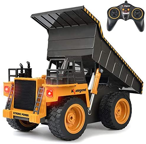 kolegend Remote Control Dump Truck Construction Vehicle Toy Rc Truck for Boys and Girls Gifts product image