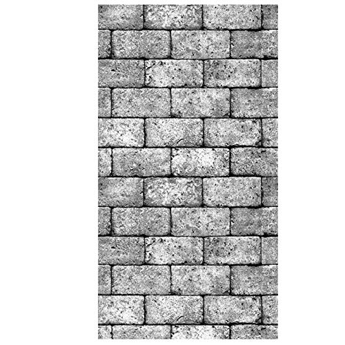 LHSJY-DP 3D Brick Wallpaper Schälen Und Kleben Panels, PVC Faux Textured Stone Wall Look Abnehmbares Und Wasserdichtes Tapeten- Oder Regalpapier Für Wohnkultur 20,8'X 393,7'