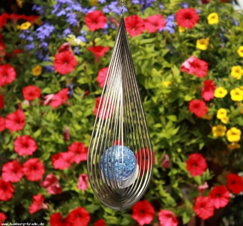 "Windspiel | ""TROPFEN"" | Farbglaskugel - 2"
