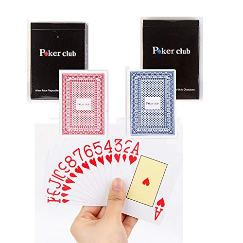 2 Sets Plastic Poker Cartas 100% Impermeable Juego de Mesa...