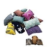 Set of 4 Cozy Mini Pet Pillows for Guinea Pig Hedgehog Ferret Chinchilla Bunny