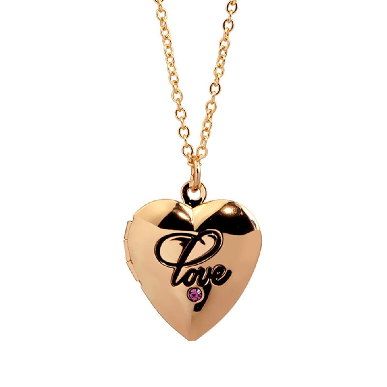 Power Wing Heart Shaped Engraved Love Lockets Necklaces That Hold Pictures Rose Gold Plated Locket Christmas Day Gifts Jewelry