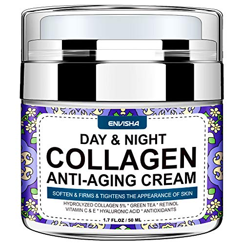 Wumal Collagen Cream - Day and Night Cream for Women & Men - Anti Aging Face Moisturizer with Hyaluronic Acid & Vitamin C, Helps Cleanse, Moisturize, Rejuvenate, and Brighter Your Skin