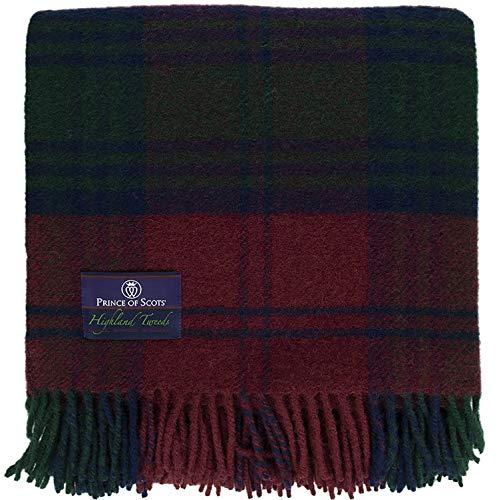 Prince of Scots Tagesdecke, Schottenkaro, Tweed, 100 prozent reine Schurwolle, flauschig Lindsay