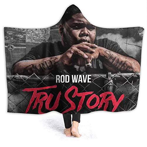 chenjian Rod Wave - Manta con capucha, de franela, con capucha, cálida, de felpa