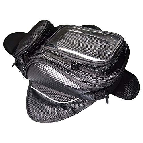 HSD Bolsa de depósito de combustible para motocicleta, magnética, color negro, impermeable, universal, para moto, impermeable y electromagnética
