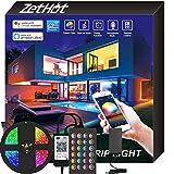 Zethot Striscia LED 5M, controllo APP con smart WiFi, Sincronizzazione musicale con cambio...