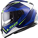 LS2 Stream Evo Axis - Casco integral (talla XXL), color blanco y azul